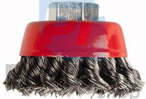 Kotúčová drôtená kefa čelná - pletený drôt 65mm M14 01532