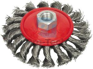 Kotúčová drôtená kefa kruhová - pletený drôt 125mm 01539