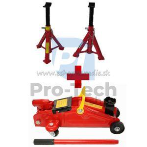 Pojazdný hydraulický zdvihák 2t + Podstavce pod auto 2t 2ks
