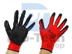 """Pracovné rukavice 10"""" Red Nitril 06596"""