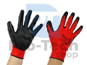 """Pracovné rukavice 9"""" Red Nitril 06595"""