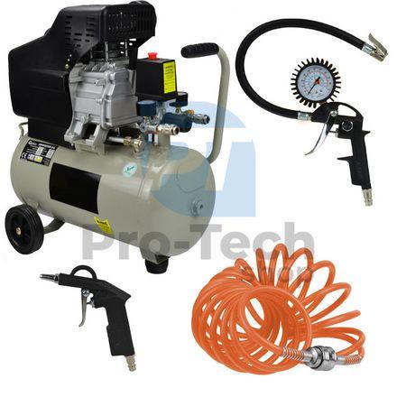 Kompresor 24L 1800W 230V V1 FL-2524 02 316 + 3 dielna pneumatická sada 04918