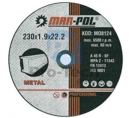 Rezný kotúč do kovu 230mm x 1.9mm x 22,2mm 00438